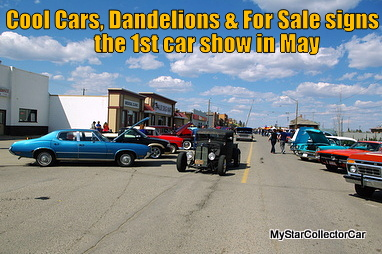 MAY 10 2015 FIRST SIGNS OF SPRINGDANDELIONS OLD RIDES AND FOR