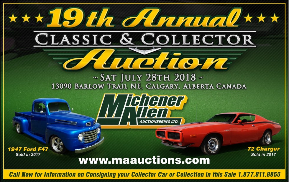 JULY 28, 2018 19th ANNUAL MICHENER ALLEN CLASSIC AND COLLECTOR CAR ...