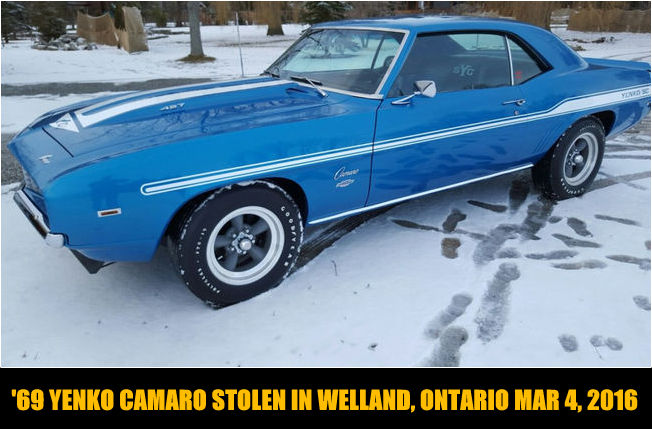 Tag Archive For Quot Stolen 69 Yenko Camaro Quot Mystarcollectorcar
