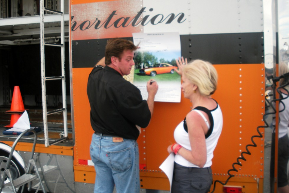 Las Vegas Chip Foose signing my Charger picture