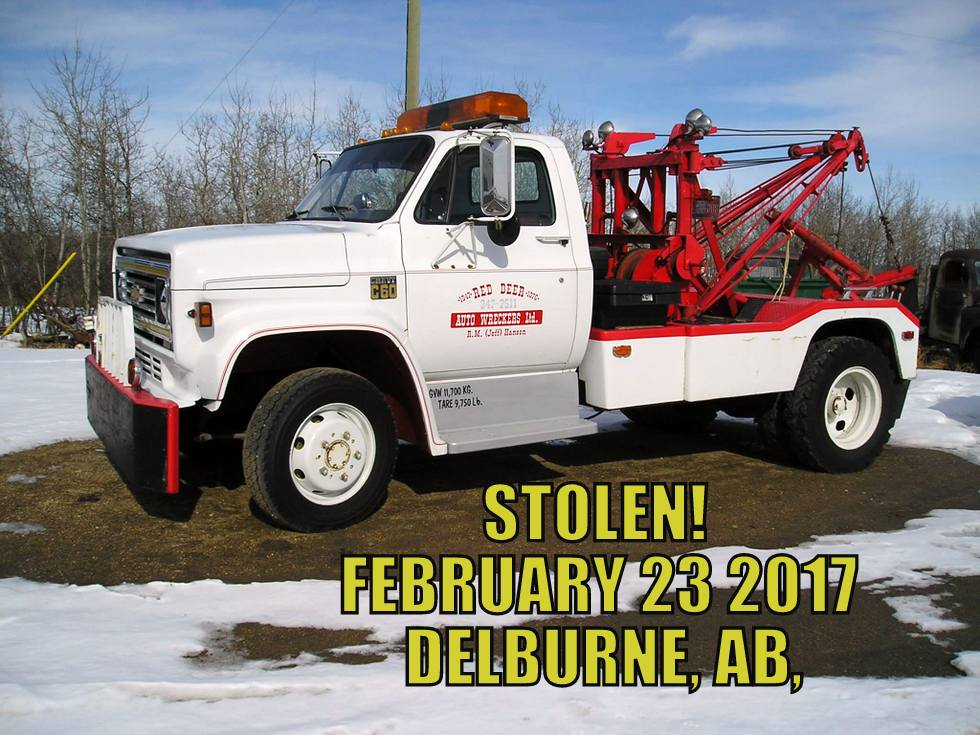 Used Car Truck Dealership Red Deer Ab Used Cars Red: STOLEN '78 Chev C60 Holmes 500 Wrecker