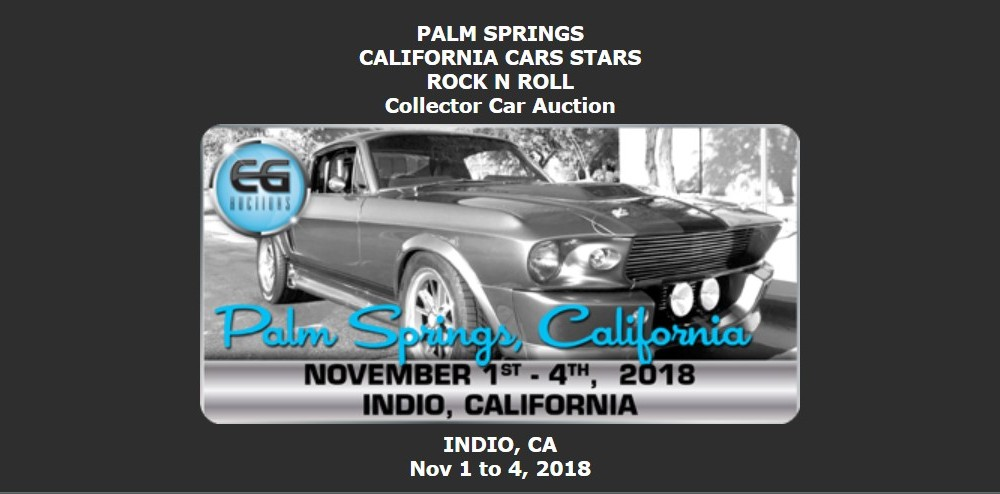 Car Shows And Events MyStarCollectorCar - Palm springs classic car show