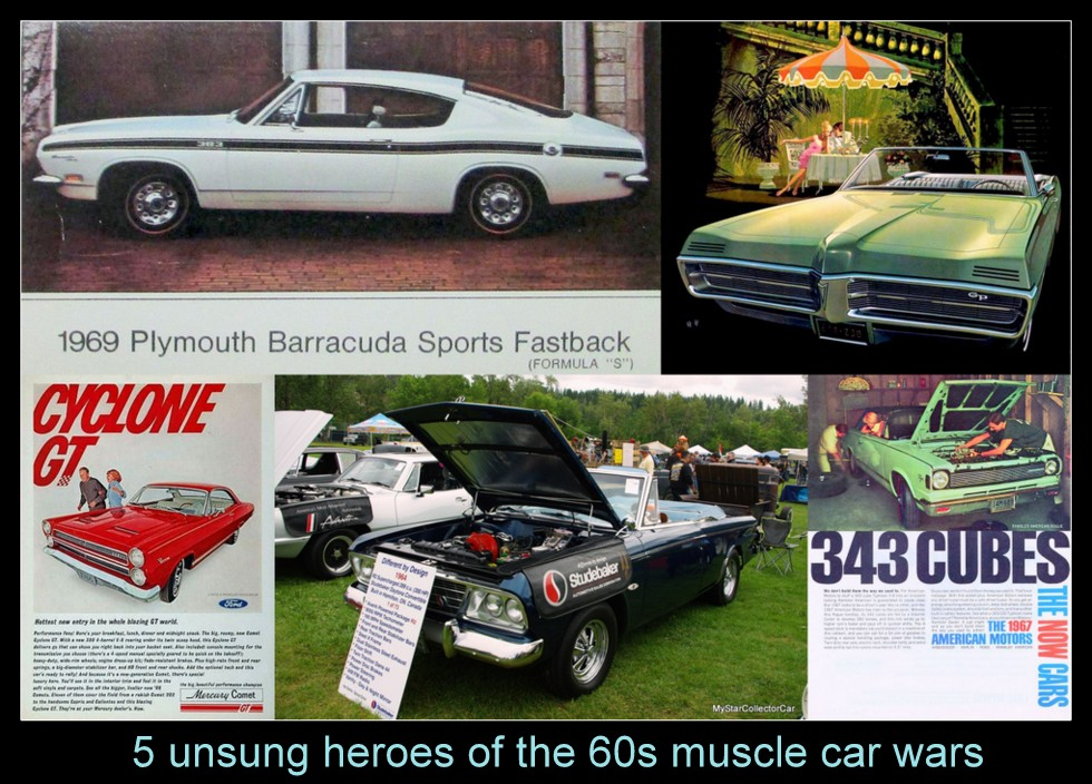 List Of Muscle Cars >> Mscc April 26 Feature Five For Friday Five Unsung Heroes From The