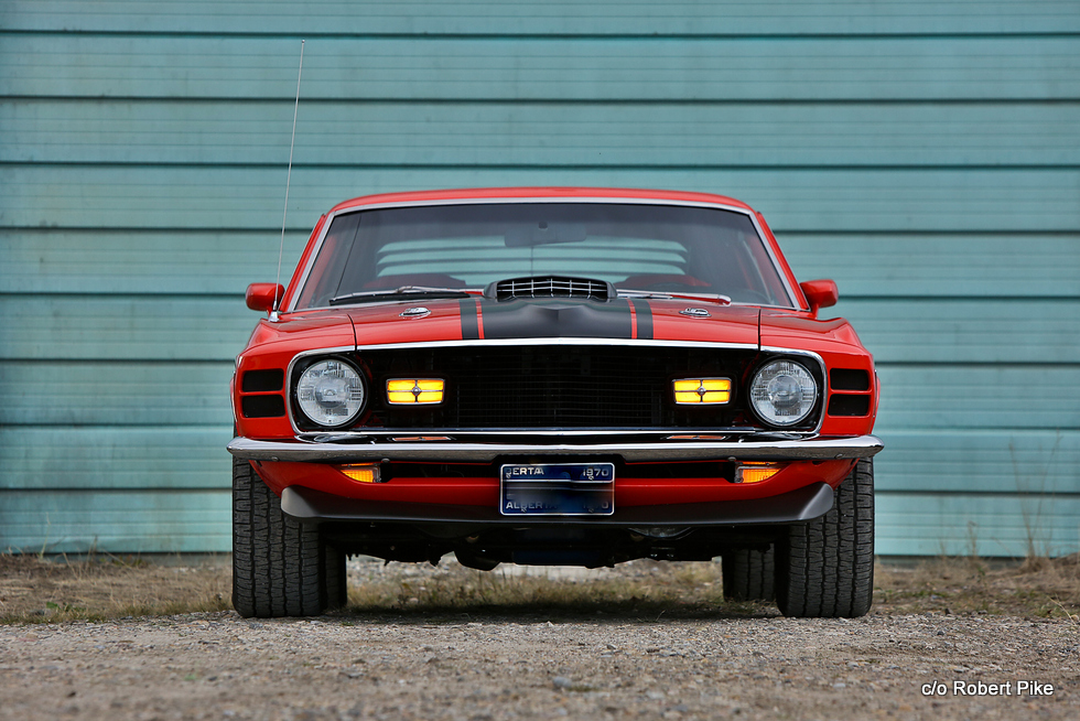 Robert Pike's 1970 Ford Mustang Mach 1 photographed at a neighbour's farm (Cleveland's) on Sunday, Oct 16, 2016 south of Langdon, Alta. Britton Ledingham/iEvolve Photo Inc.