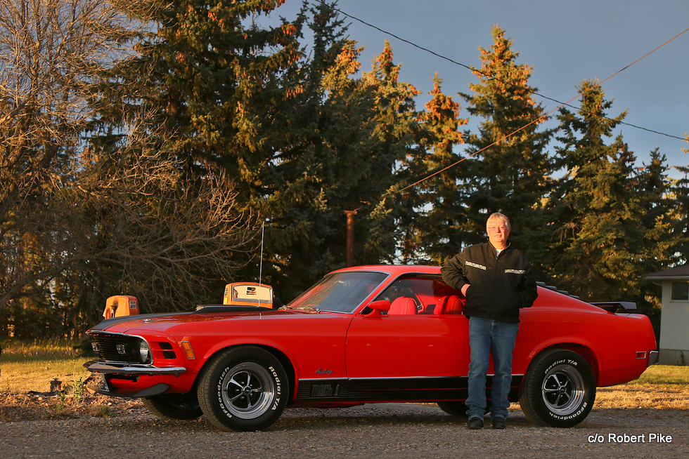 Robert Pike's 1970 Ford Mustang Mach 1 photographed at a neighbour's farm (Cleveland's) on Sunday, Oct 16, 2016 south of Langdon, Alta.Britton Ledingham/iEvolve Photo Inc.