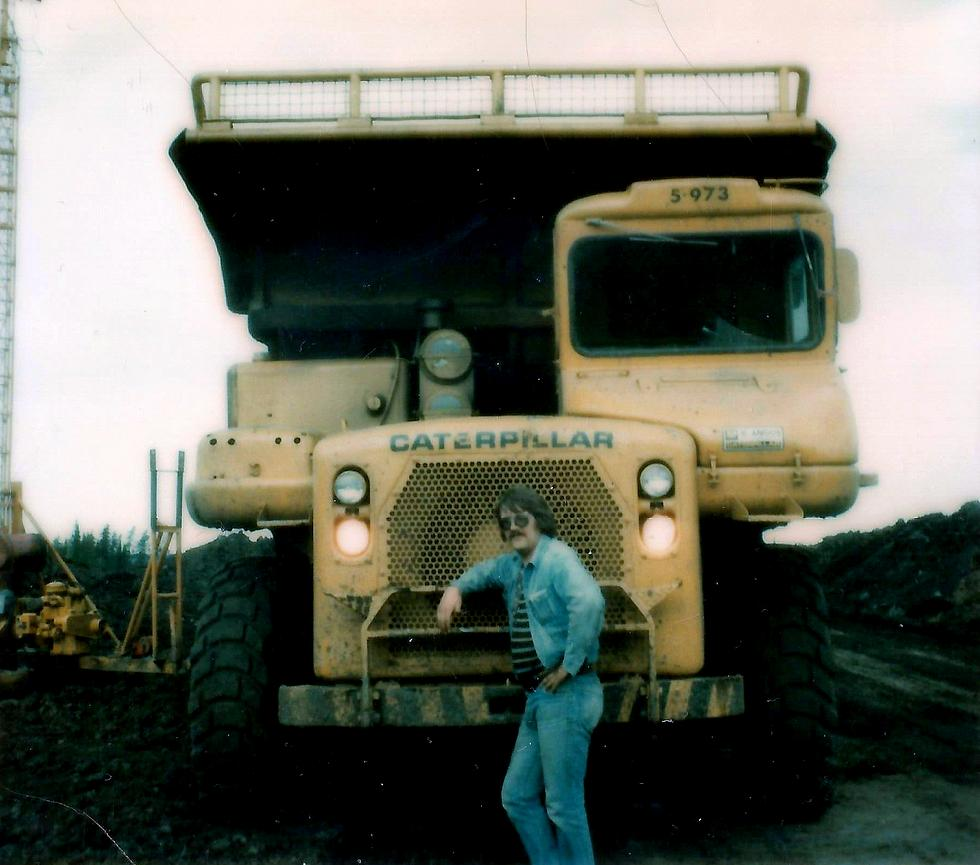 Bruce beside large truck0002